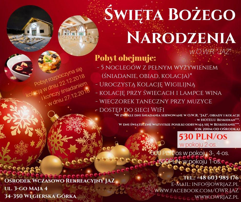 plakat oferty świątecznej